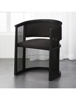 Kaishi Black Chair by Crate&Barrel