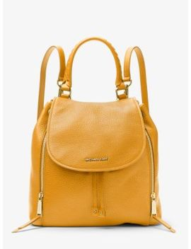 Viv Large Leather Backpack by Michael Michael Kors