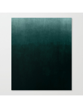 Ombre Emerald Canvas Print by