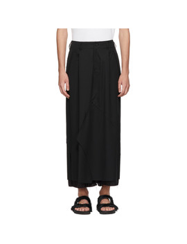 Black Layered Skirt by Sulvam