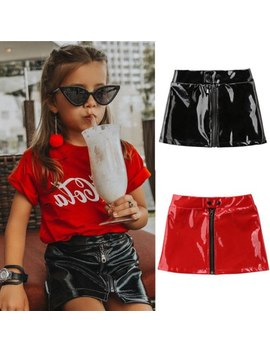 Summer Toddler Baby Girl Leather Tutu  Pencil Skirt Solid Party Pageant Sequins Kid Girls Clothes 2018 New by Pudcoco