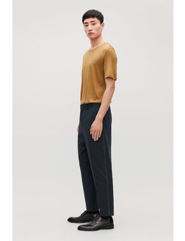 Topstitched Cropped Trousers by Cos