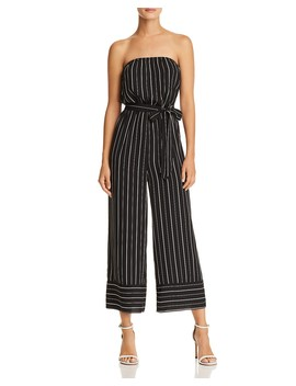 Striped Strapless Wide Leg Jumpsuit   100 Percents Exclusive  by Aqua