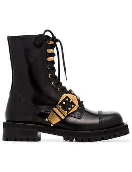 Versace Stiefel Mit Budapestermuster Home Damen Versace Schuhe Stiefel & Stiefeletten by Versace