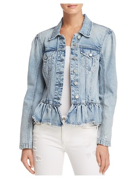 Peplum Denim Jacket by Blanknyc