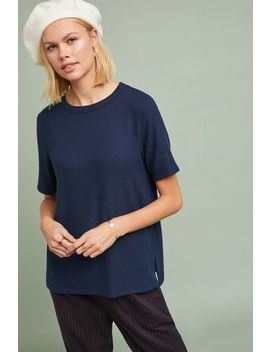 Michael Stars Madison Brushed Fleece Tee by Michael Stars