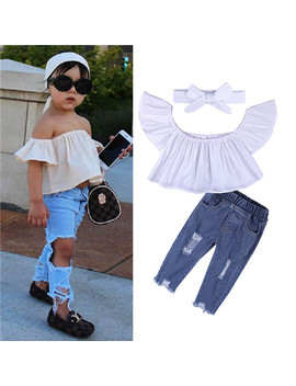 Children Sets For Girls Fashion 2018 New Style Girls Suits For Children Girls T Shirt  + Pants + Headband 3pcs. Suit St307 by Kids Tales