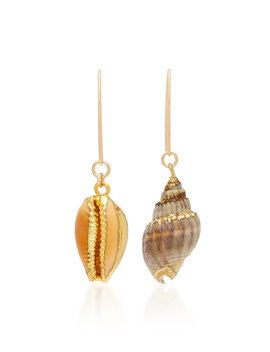 Dark And Stormy Shell Earrings by Brinker & Eliza