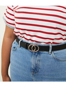 Black Circle Buckle Belt by New Look