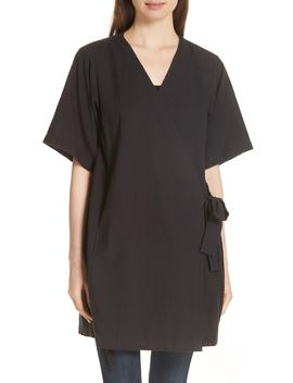 Kimono Sleeve Organic Cotton Blend Jacket by Eileen Fisher