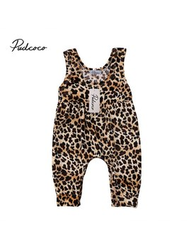 2018 Brand New Cute Newborn Toddler Infant Baby Girl Leopard Vest Romper Jumpsuit Harem Pants Sleeveless Sunsuit Outfits Clothes by Pudcoco