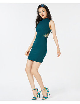Juniors' Mock Neck Bodycon Dress by City Studios