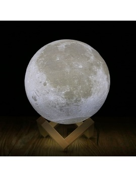 Rechargeable 3 D Print Moon Lamp 2 Color Change Touch Switch Bedroom Bookcase Night Light Home Decor Creative Gift by Hngchoige
