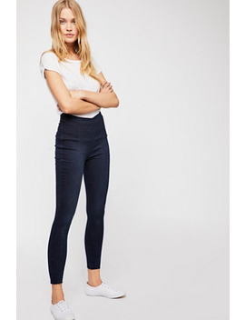 Seamed Pull On Skinny Jeans by Free People