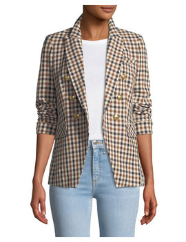 Lonny Double Breasted Check Dickey Jacket by Veronica Beard