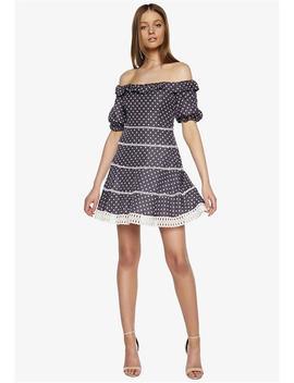 Spotty Lace Dress by Bardot
