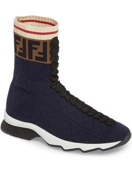 Rockoko Logo Sock Sneaker by Fendi