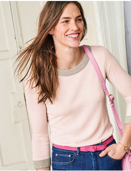 Sparkle Trim Knitted Sweater by Boden