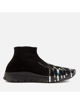 Maison Margiela Men's Painter Treatment Sock Sneakers   Black/Painter Mix/Black Sole by Maison Margiela