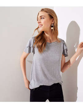 Petite Tiered Sleeve Tee by Loft
