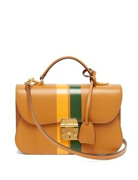 Dorothy Smooth Leather Shoulder Bag by Mark Cross