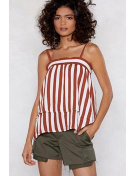 Hit 'em With A Double Cami Striped Top by Nasty Gal
