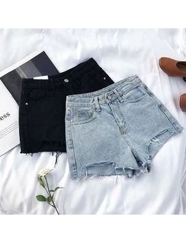 Fray Denim Shorts by Diyi