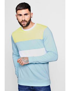 Pastel Colour Block Sweatshirt by Boohoo Man