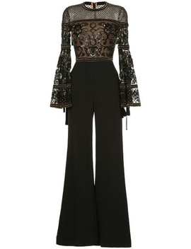Bell Sleeves Embellished Jumpsuit by Elie Saab