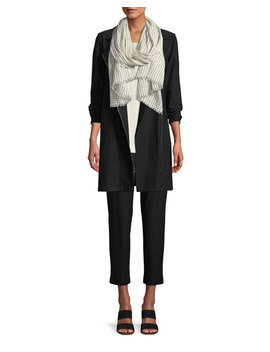 Washable Stretch Crepe Moto Jacket by Eileen Fisher