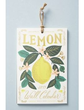 Rifle Paper Co. Lemons 2019 Calendar by Rifle Paper Co.