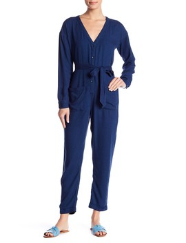 V Neck Skinny Leg Jumpsuit by Splendid