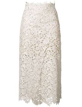 Embroidered Flared Midi Skirt by Ermanno Scervino