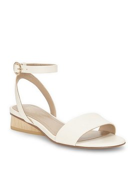 Polliana Leather Ankle Strap Block Heel Sandals by Generic