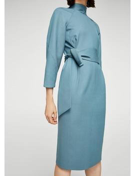 Knot Wool Blend Dress by Mango