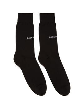 Chaussettes à Logo Noires by Balenciaga