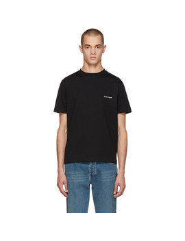 T Shirt Noir Small Logo by Balenciaga