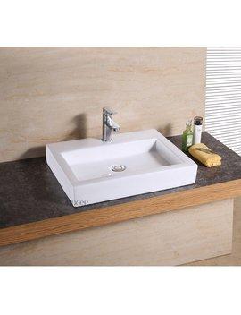 Luxier Ceramic Rectangular Vessel Bathroom Sink by Luxier