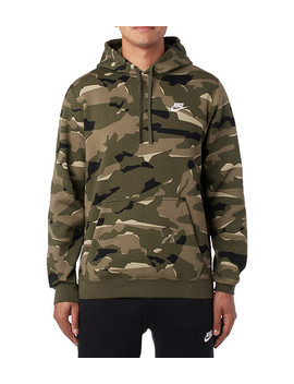 Club Brushed Back Flc Camo Po Hood by Nike