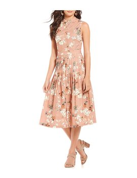 Connie Floral Print Midi Dress by Generic