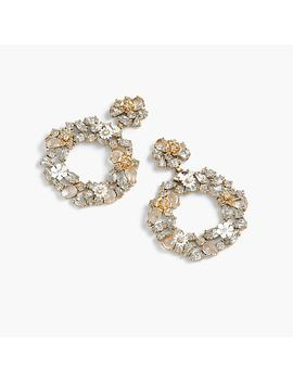 Floral Clip On Hoop Earrings by J.Crew