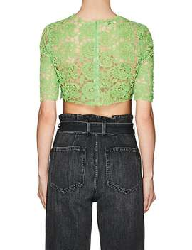 Floral Lace Crop Top by Jourden