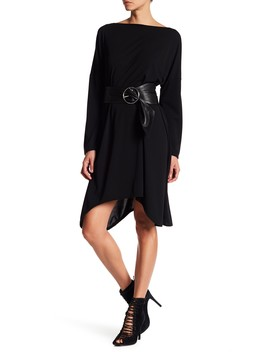 Oversized Long Sleeve Knee Length Dress by American Twist