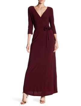 Maxi Mock Wrap Dress by Just For Wraps
