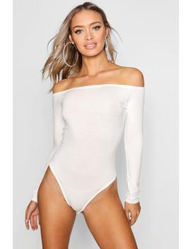 Off The Shoulder Bodysuit by Boohoo