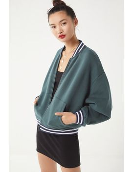 Uo Pemberton Zip Up Varsity Cardigan by Urban Outfitters