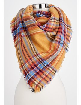 Plaid Blanket Scarf by Maurices