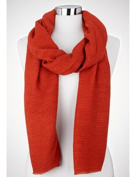 Solid Pleated Oblong Scarf by Maurices