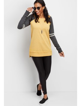 Long Sleeve Tunic Football Pullover by Maurices