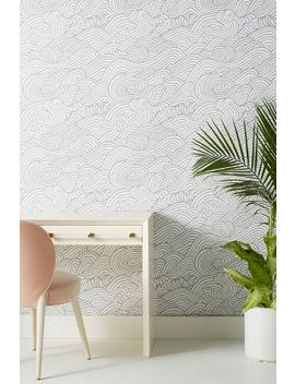 Mare Wave Wallpaper by Anthropologie